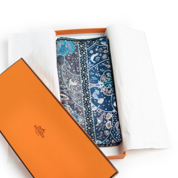 Hermès Blue Silk Scarf Pochette