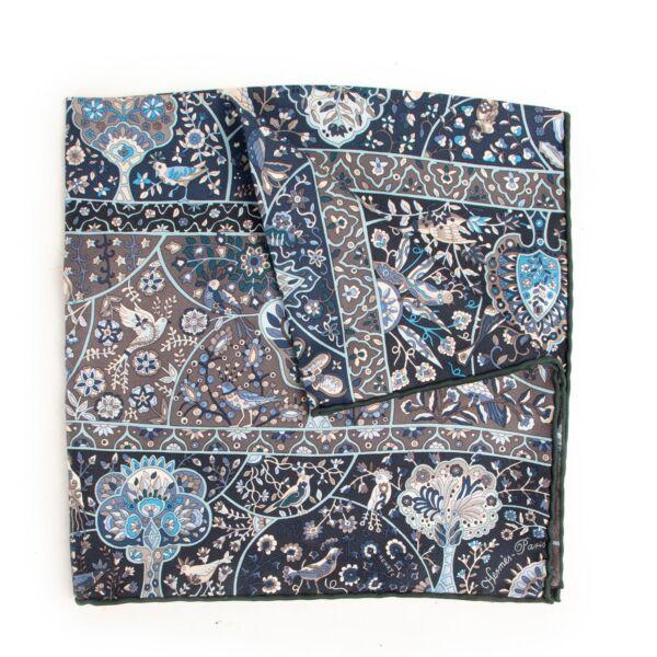 Buy in very good condition a Hermès Blue Silk Scarf Pochette
