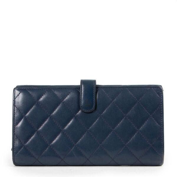 Chanel Blue CC Cambon Long Wallet