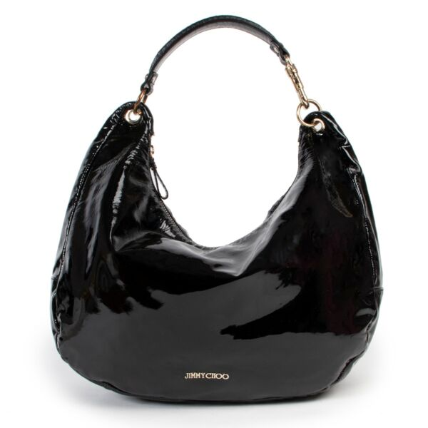 Shiny Black Bag by Jimmy Choo with an authentic style