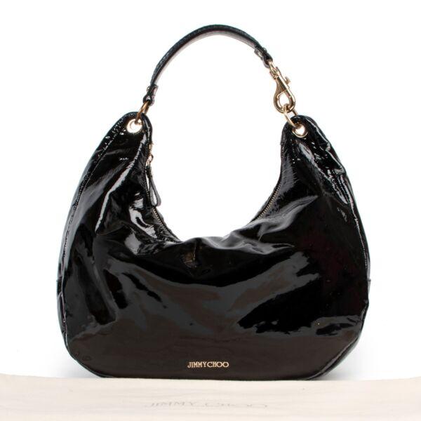 Jimmy Choo Black Patent Shoulder Bag