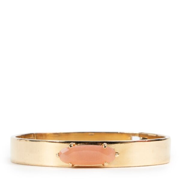 Shop safe online an authentic Wouters & Hendrix Gold Pink Stone Bracelet in very good condition and at the right price at Labellov.Com.