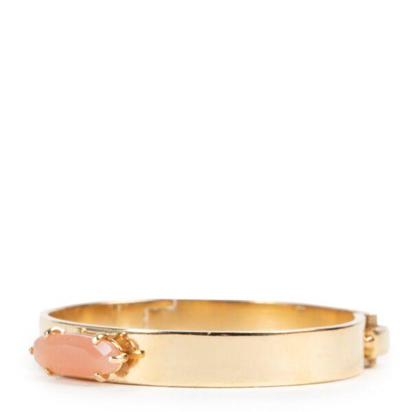 Wouters & Hendrix Gold Pink Sunstone Bracelet