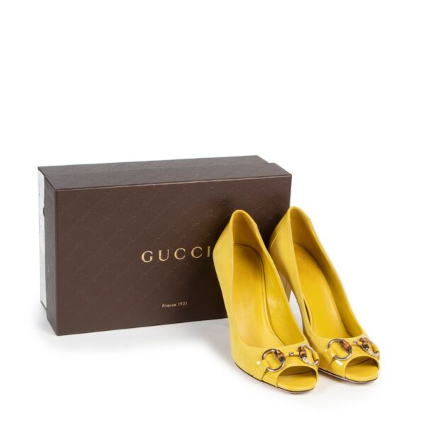 Gucci Yellow Suède Pumps - size 38.5