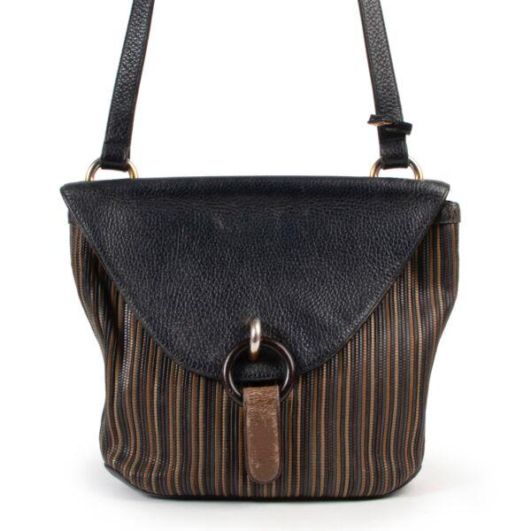 Delvaux Toile De Cuire Crossbody Bag