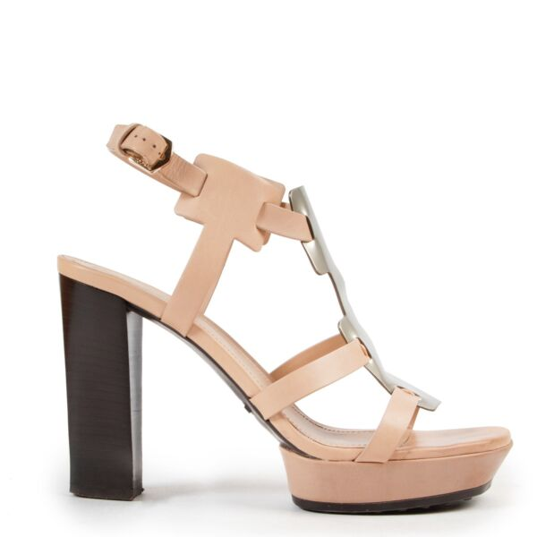 Tods Nude Sandal Pumps - Size 37,5