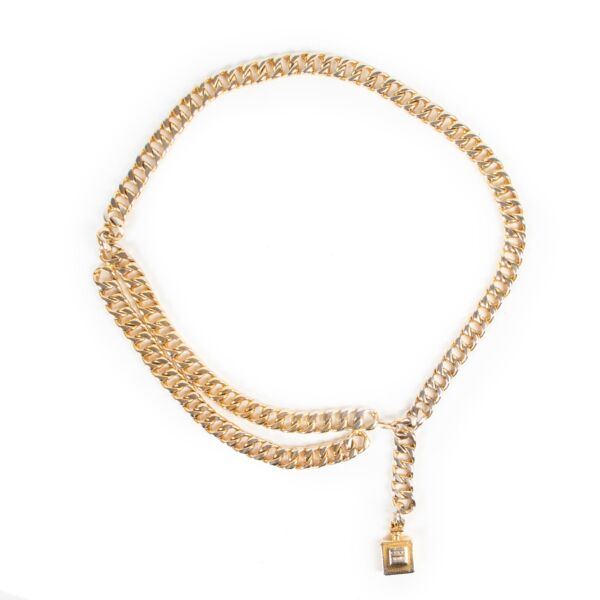 Chanel Gold Perfume Belt