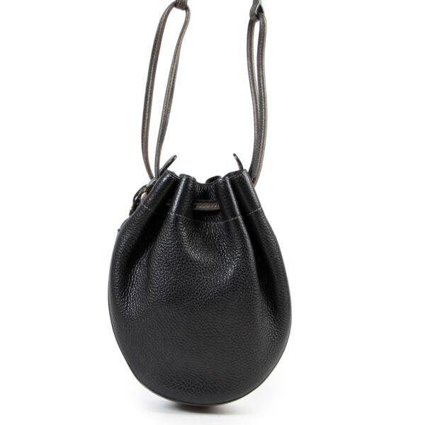 Delvaux Black Crossbody Bucket