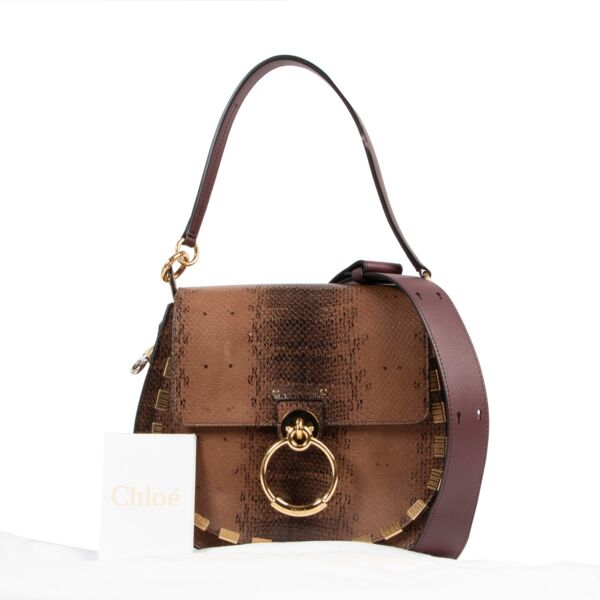 Chloé Brown Tess Saddle Bag Medium