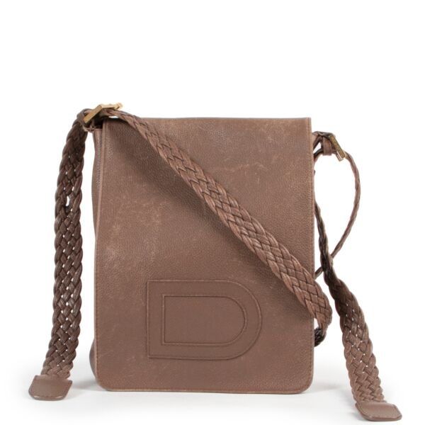 Delvaux Taupe Louise Crossbody PM