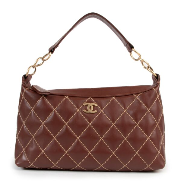 Chanel Tan Leather Quilted Shoulder Bag