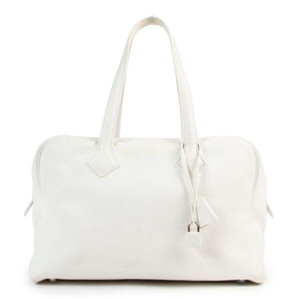 Hermès White Victoria Shoulder Bag