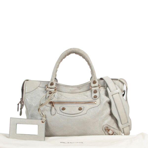 Balenciaga Light Grey Giant City Shoulder Bag