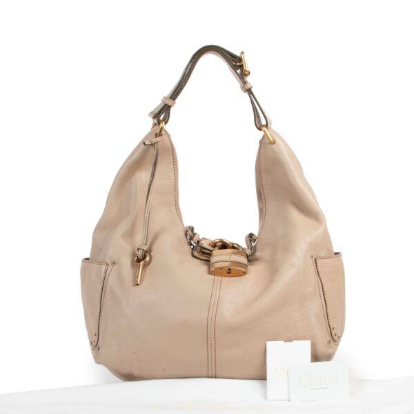 Chloé Sand Paddington Hobo Shoulder Bag