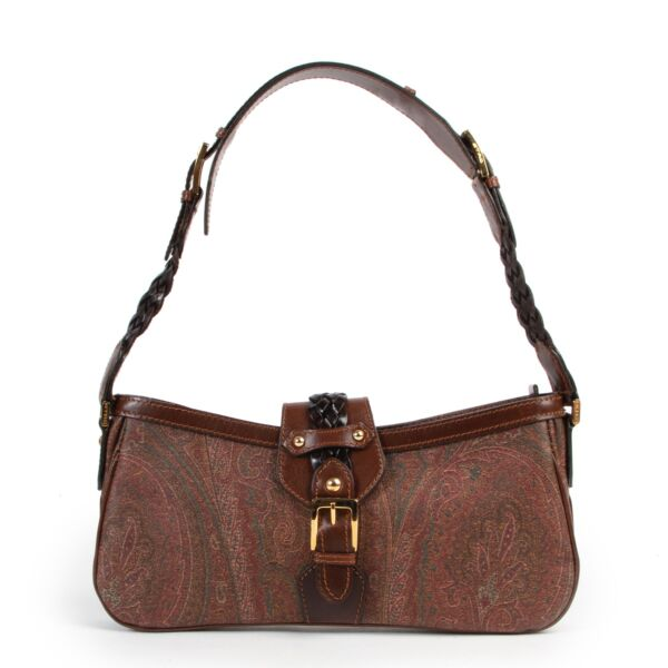 Shop safe online authentic second hand Etro Paisley Print Shoulder Bag In very good condition.