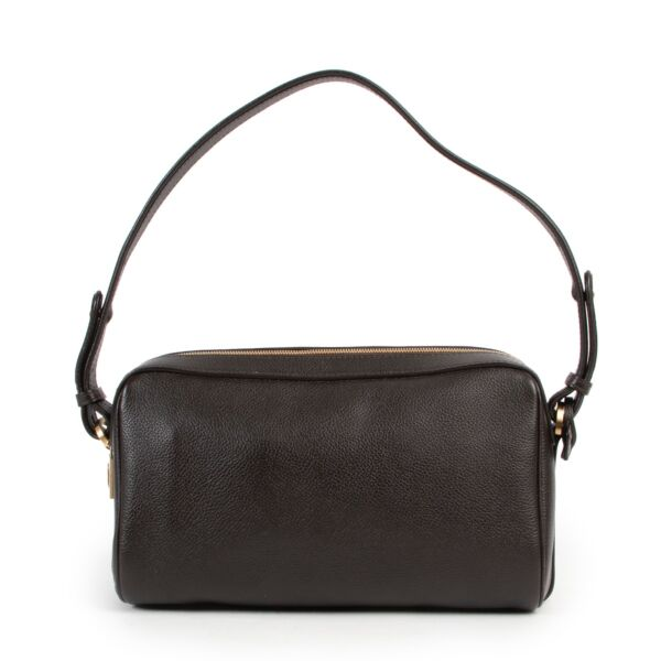 Shop safe online 100% authentic second hand Delvaux Brown Cinema Trotteur Shoulder Bag in excellent condition at the right price at Labellov.com.