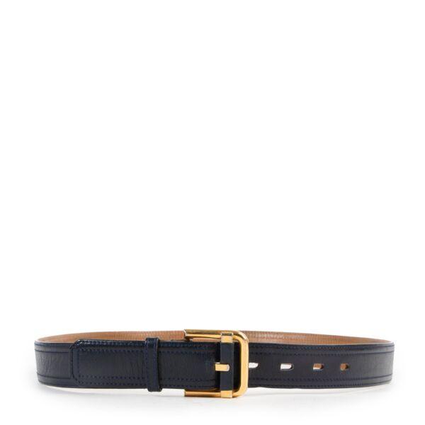 Delvaux Dark Blue Belt - Size 95