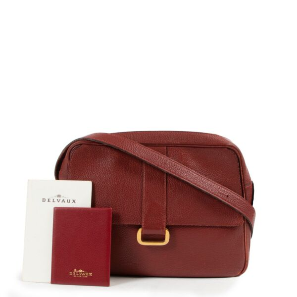 Delvaux Red Complice Crossbody Bag