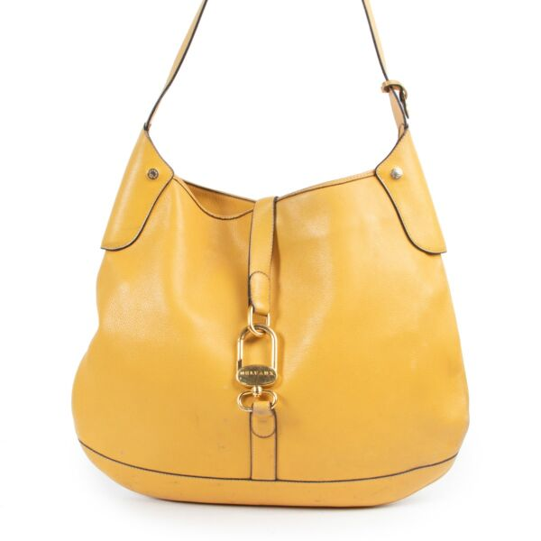 Yellow crossbody bag by Delvaux