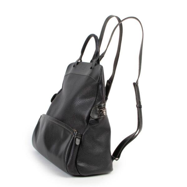 Delvaux Black Backpack