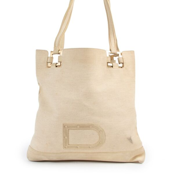 Delvaux Beige Canvas Shoulder bag