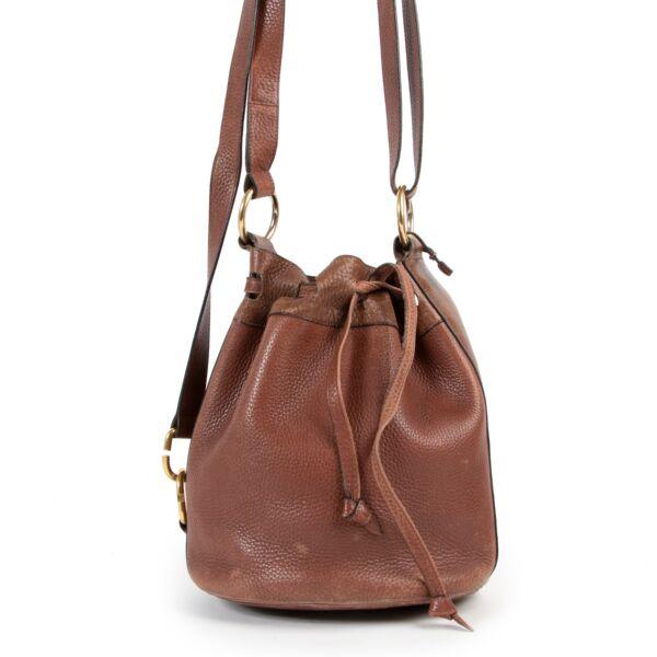 Delvaux Brown Bucket Bag