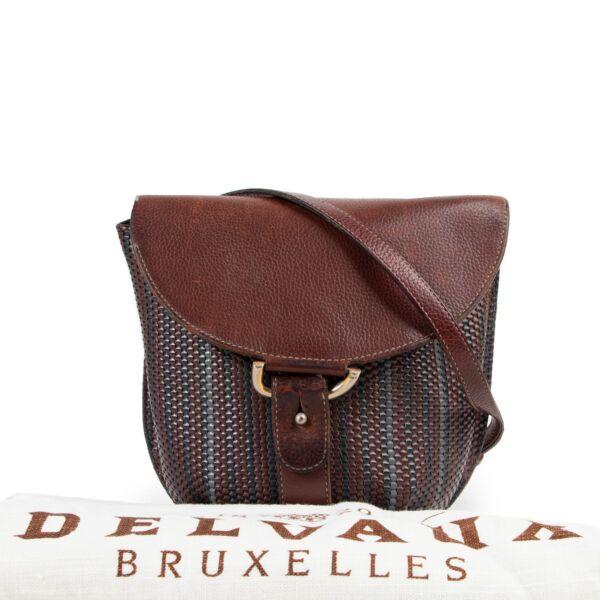 Delvaux Toile De Cuir Crossbody Bag