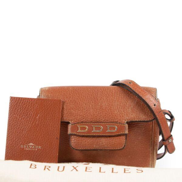Delvaux Cognac Crossbody Bag