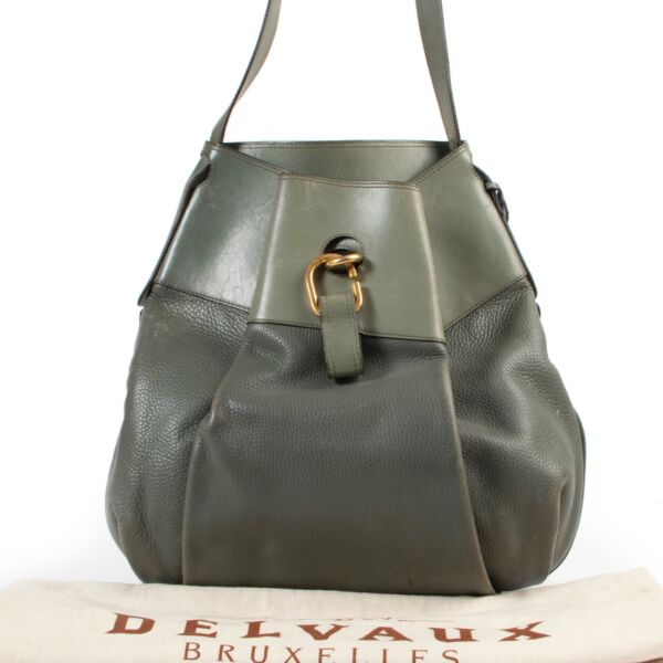 Delvaux Green Leather Crossbody Bag