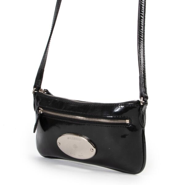 Mulberry Black Patent Leather Crossbody Bag