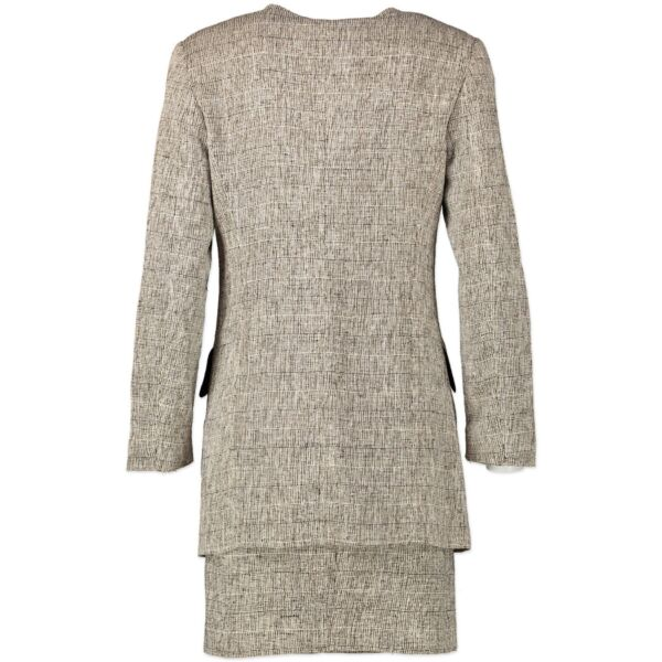 Fendi Grey Printed Skirt Two-Piece Suit - size 36