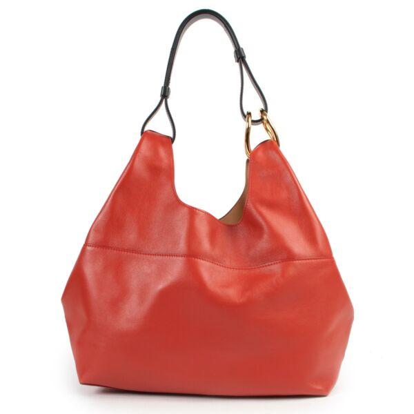 Delvaux Givry WithMe PMCalf Souple Scarlet Red Shoulder bag by Labellov Vintage luxury designer site