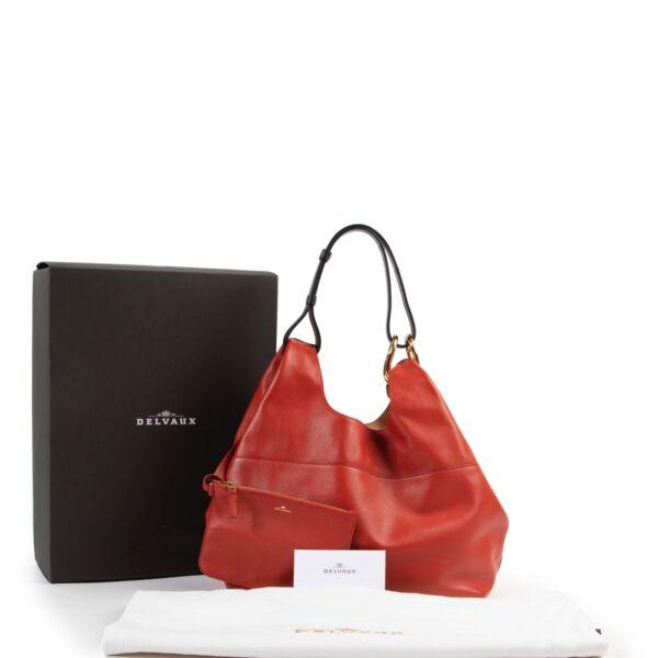 Delvaux Givry WithMe PMCalf Souple Scarlet Red Shoulder Bag
