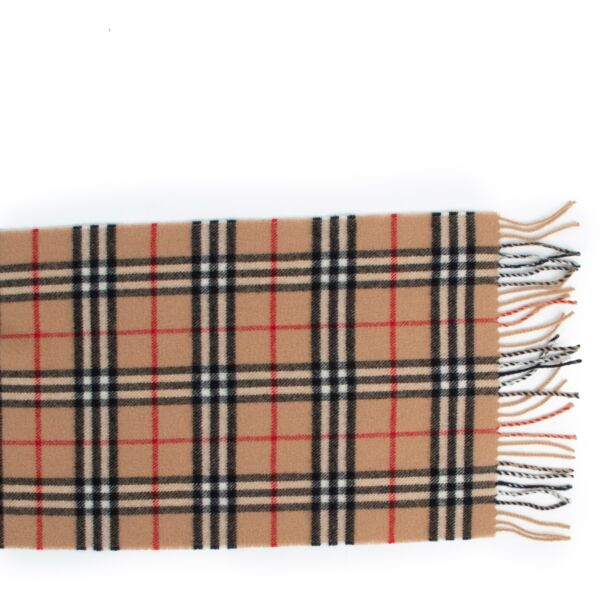 Burberry Check Lambswool Scarf