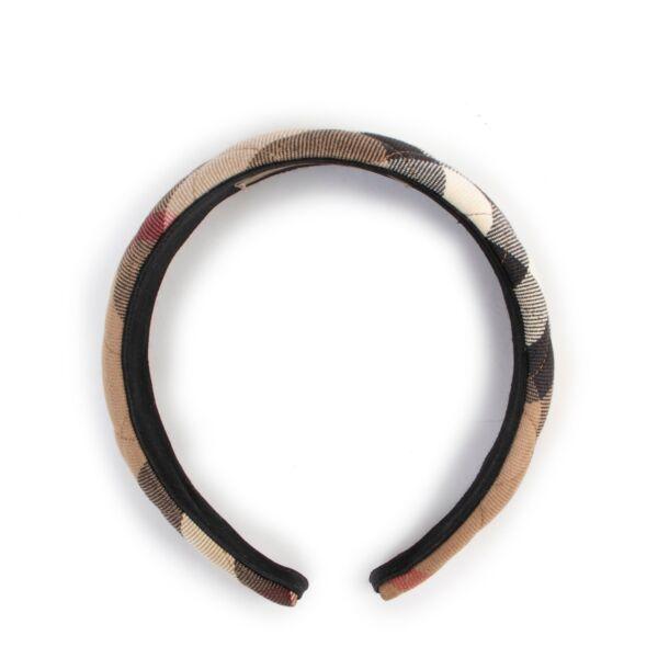 Burberry Check Canvas Headband