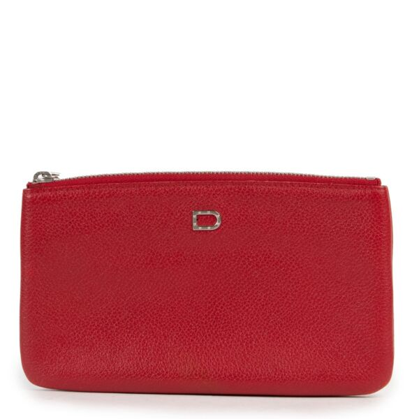 Delvaux Red Pouch