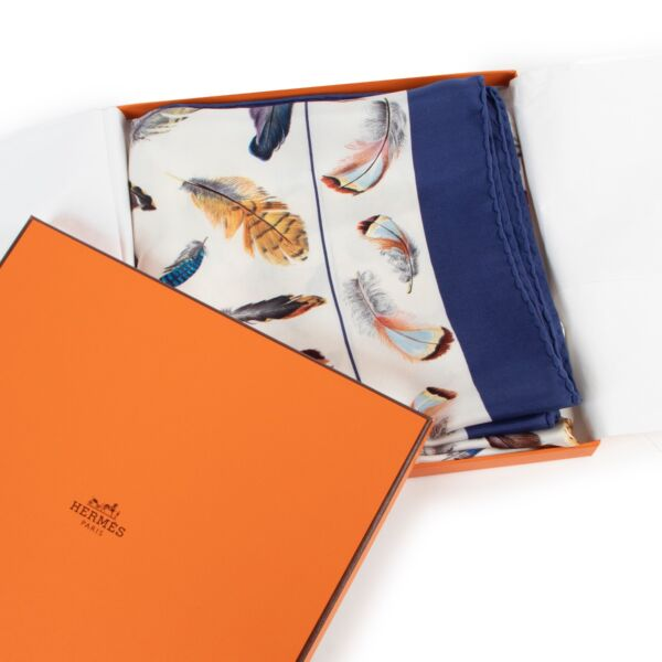 Hermès Plumes Carré Silk Scarf