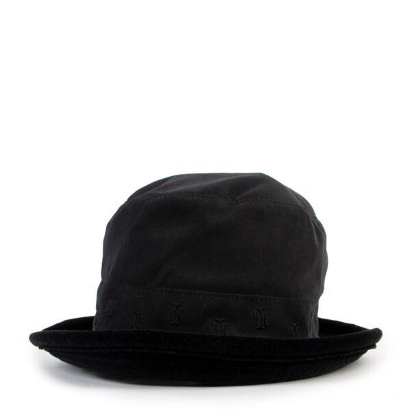 Shop safe online Hermès black bucket hat