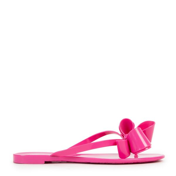 Valentino Pink Jelly Bow Sandals - Size 37