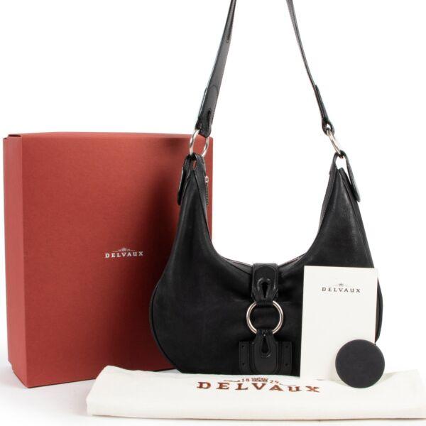 Delvaux Black Camille PM Shoulder Bag