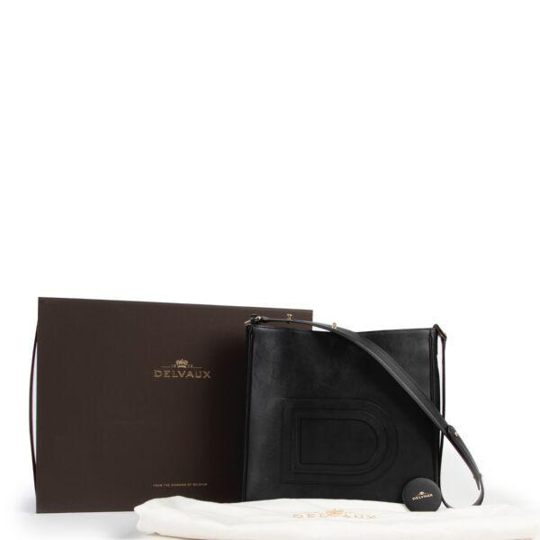 Delvaux Black Leather Louise Hobo Shoulder Bag