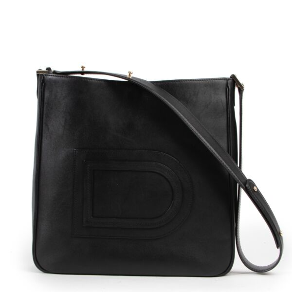 Delvaux Black Leather Louise Hobo Shoulder Bag by Labellov luxury vintage designer brands in good condition at the right price.