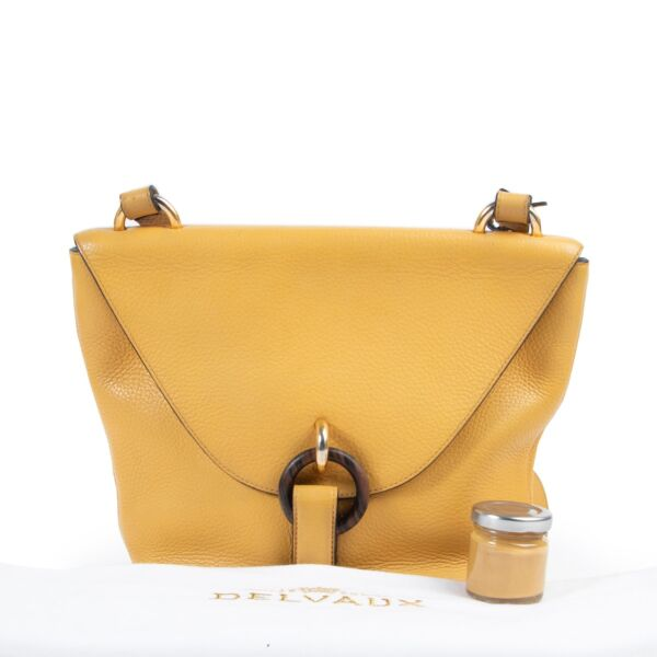 Delvaux Yellow Leather Crossbody Bag