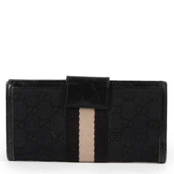 Gucci Black Monogram Wallet