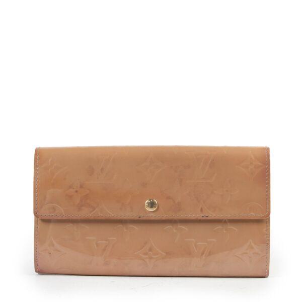 Louis Vuitton Beige Vernis Monogram Wallet