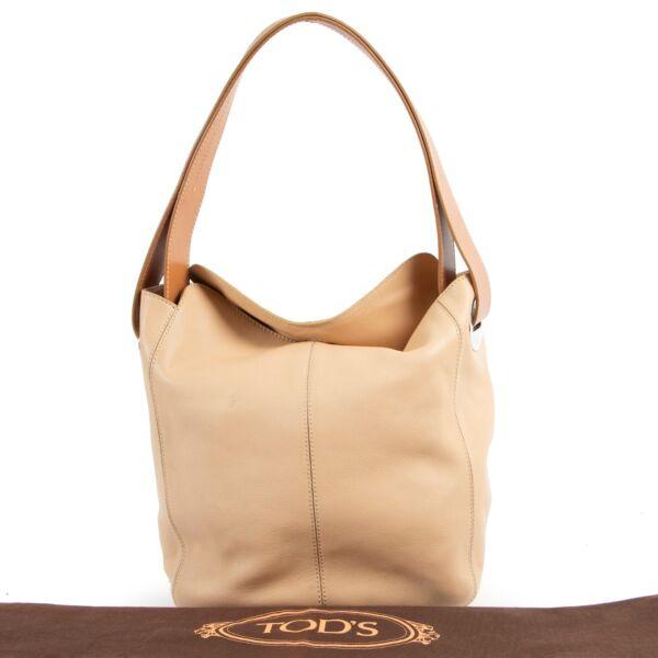 Tods Beige Shoulder Bag