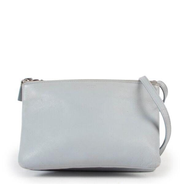 Celine Blue Trio Crossbody
