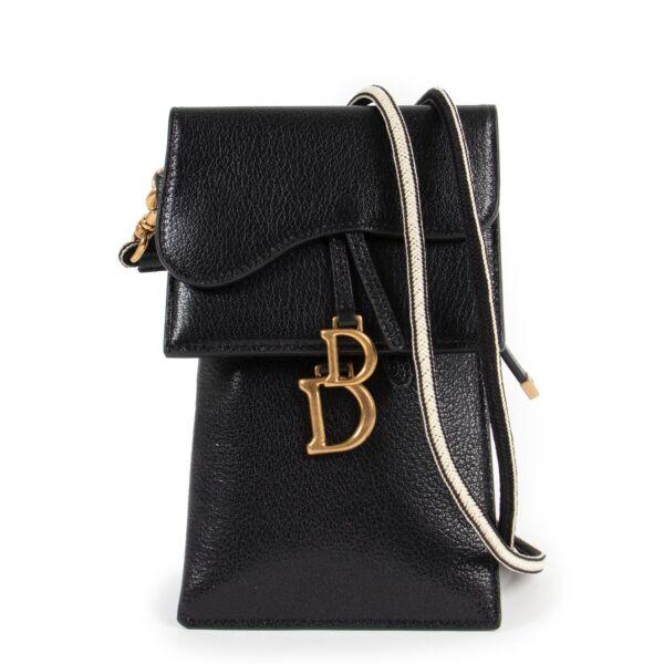 Dior Saddle Shiny Black Multifunction Pouch