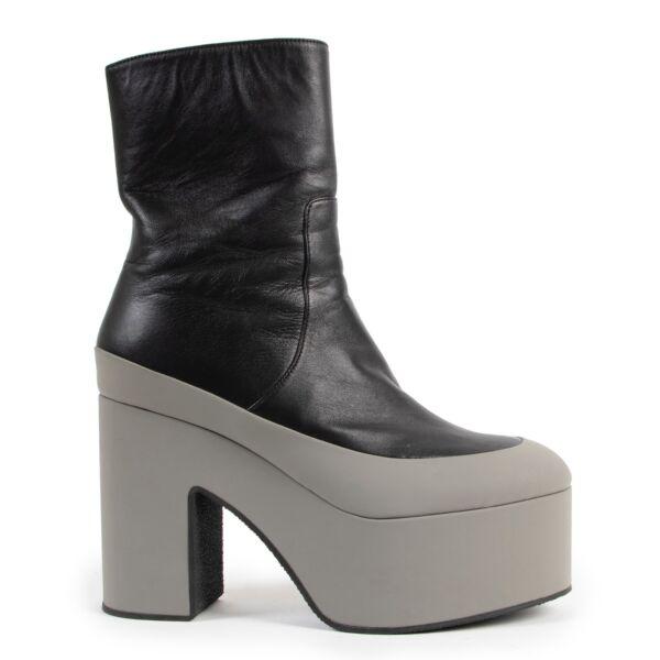 Dries Van Noten Black Platform Ankle Boots - Size 39