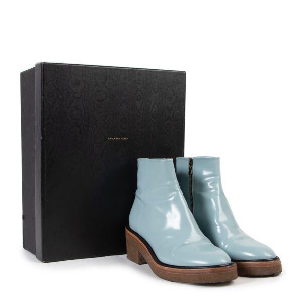 Dries Van Noten Blue Boots - Size 39